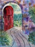 Red Door | Watercolor | 14 x 11 | $325
