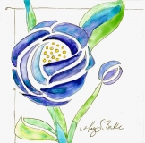 Art Nouveau Roses 2- | Watercolor | SOLD