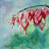 Bleeding Hearts 3 | Watercolor | SOLD