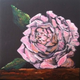 Moonlit Rose | Acrylic | SOLD