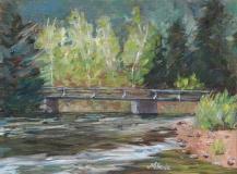 Bridge Over the Poudre | Plein Air Oil | 8 x 10 | $50
