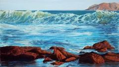 Evening Waves | Pastel 12 x 21.5 | $415