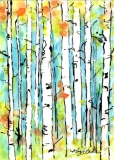 Forest for the Trees 2 | Watercolor & Ink on Yupo | SOLD