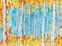Glade of Orange | Watercolor on Yupo | 9 x 12 | $350