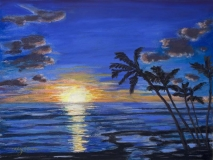 Tropical Sunset | Pastel | SOLD