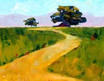 Beneath the Cottonwoods | Oil | 11 x 14 | $350