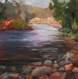 River Light | Plein Air Oil | 6 x 6 | $95 | Unframed