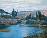 Mountain Lake | Pastel | 16 x 20 | $525