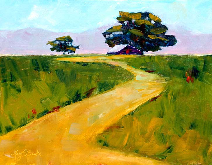 Beneath the Cottonwoods | Oil | 11 x 14 | $350