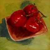 Ripe Trio | Oil | 6 x 6 | $75 | Unframed