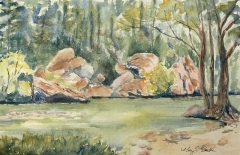 Lazy River | Plein Air Watercolor | 6.5 x 9 | $215