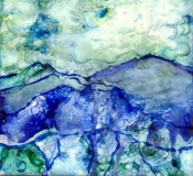 Mystic Mountains | Alcohol Ink | SOLD