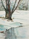 Placid Winter Morning | Watercolor | 12 x 9 | $300