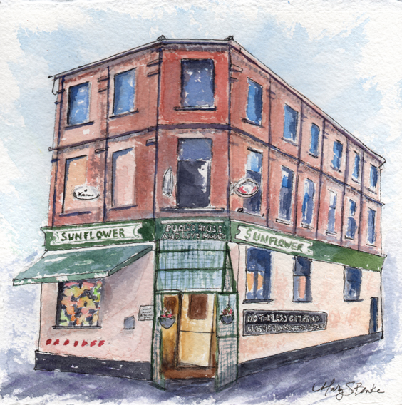 sunflower_pub_belfast_northernireland_watercolor